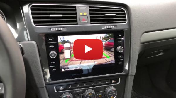 Rear View Camera Golf 7 Hatchback - lowline version
